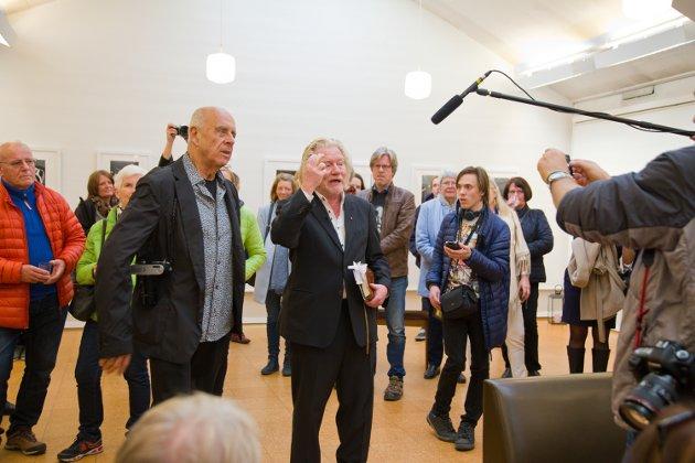 Ralph Gibson og Morten Krogvold i Kunstforeningen.