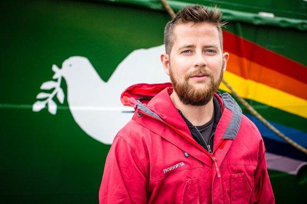 Halvard Haga Raavand, politisk rådgiver i Greenpeace Norge.