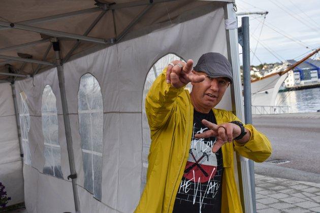 Knut Thorkildsen var klar i god tid før konsertstart.