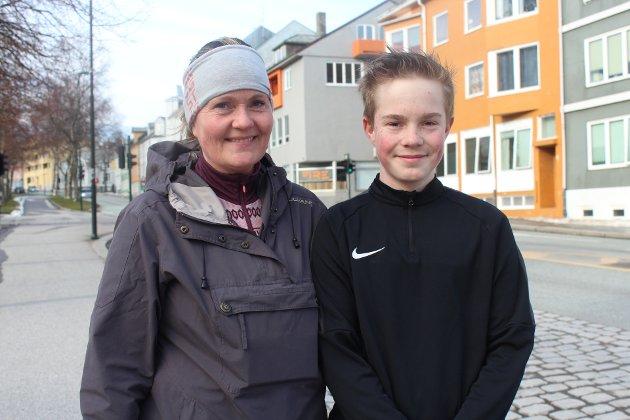 Gunn-Kari Kjelstadli og Sony Kjelstadli har trent sammen hver dag siden skolen ble stengt.