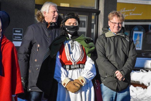 Bjarne Elde (fra venstre), Anja Solvik og Arne Grødahl.