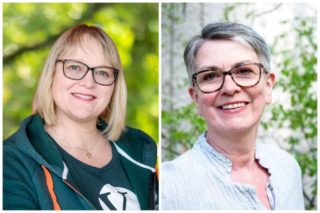 Lena Landsverk Sande, 1. kandidat, og Ragnhild Helseth, 2. kandidat til stortingsvalget for M&R Venstre