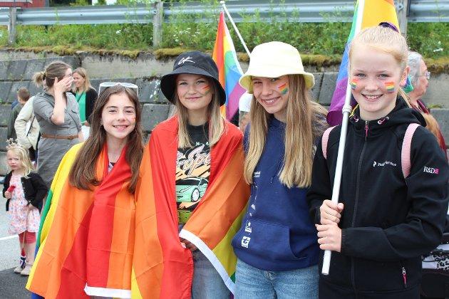Tina Sofie Strand, Signe Roaldset Fiske, June Ranes og Eline Saltre Polden var enige i at det var viktig å møte opp i dag.