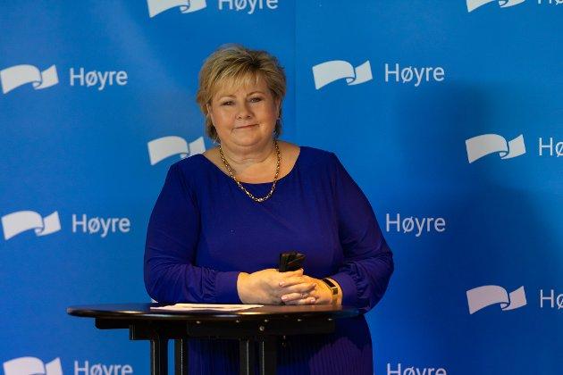 – Siden 2013 har vi doblet bevilgningene til samferdsel, skriver statsminister Erna Solberg..