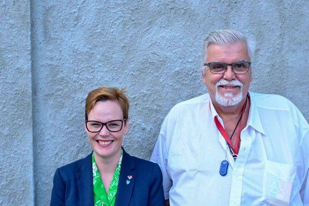 Silje Alise Ness og Stein Kristiansen er henholdsvis 1. og 2. kandidat Rødt Møre og Romsdal