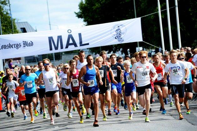 TILBAKEBLIKK: Her gikk starten på 5 kilometeren i Kristinaløpet i 2014.