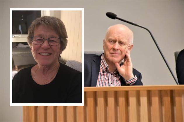 BLIR BRA: Karin-Ingrid Hovland er leder i Færder Senterparti. Hun mener partiet skal fortsette å samarbeide for kommunens beste. Richard Fossum (Sp) er Færders varaordfører.