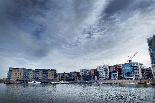 IKKE HISTORISK: «På Kaldnes er det bygget en bydel som ser ut som Legoland», skriver Per R. Brun. Han mener gamle Tønsberg forsvinner.