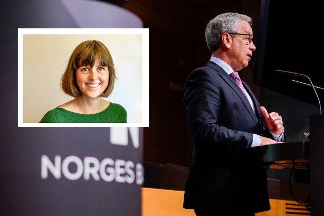 VARSKO: Når sentralbanksjef Øystein Olsen mener eneste utvei er å sette ned renten med 0,25 prosentpoeng til 0, er det et tegn på at Norge ikke går særlig bra, skriver TBs samfunnsredaktør Marie Olaussen.