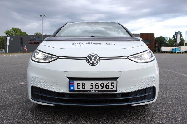 VAKKER? Litt elbil-typisk design over dette frontpartiet, men sånn blir det vel ofte når man designer slike biler.
