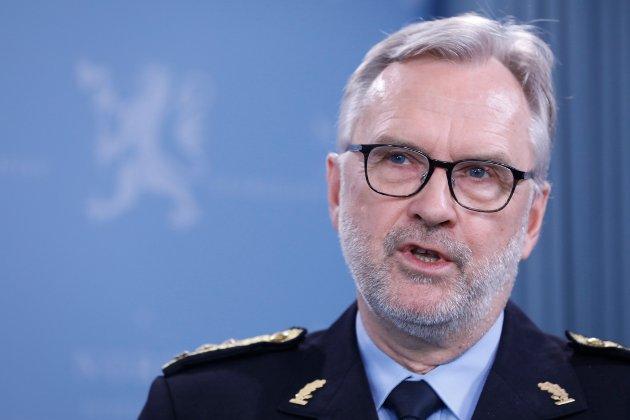 Oslo, NOR 20190329. Politimester i Oslo, Hans Sverre Sjøvold på pressekonferansen der han presenteres som ny sjef for PST. Foto: Gorm Kallestad / NTB