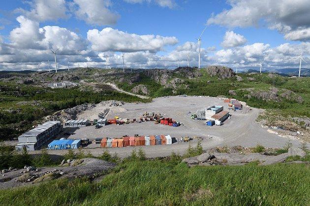 Fra Bjerkreim vindkraftverk. Et vindkraftanlegg medfører massiv naturødeleggelse.