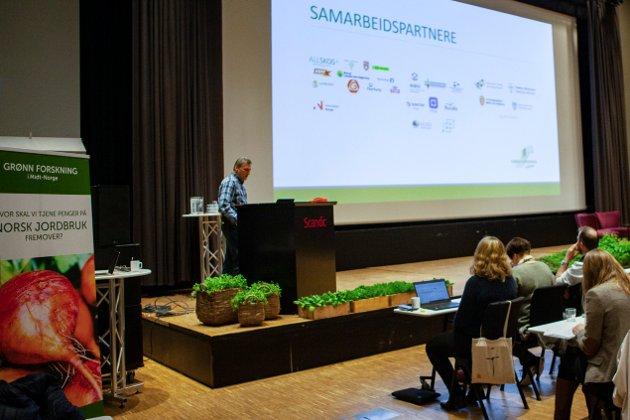 Bildet viser Jørn Magne Vaag under Grønn Forskning konferansen i februar 2020. FOTO: Norges Bondelag