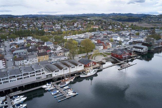Sjøgata i Levanger.