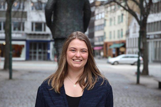 Tyra Joarsdottir, leder for AUF i Trondheim.