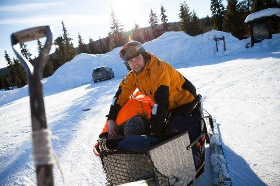 Frivillig: Redningsøvelse med Norsk Folkehjelp Moelv og omegn under påska i fjor.