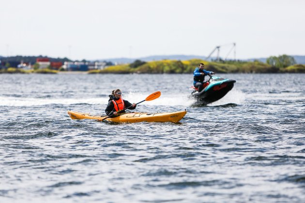 MÅ NED: Den generelle hastigheten på sjøen må betydelig ned, mener natur- og friluftslivsorganisasjonene bak innlegget.
