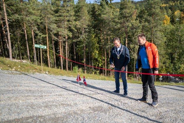 Leira: Erik Eggum har filmet og redigert en video av turløypa rundt Valdres Storhall. Her kan du få en forsmak, før du selv tar turen til skogs. FOTO: Erik Eggum, Anleggsfilm