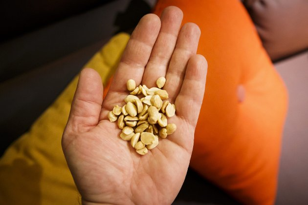 NYTTIGE NØTTER: Spis en neve nøtter hver dag med god samvittighet - dersom du ikke er allergisk. Nøtter av alle slag skal ha en rekke positive egenskaper.  Foto: Heiko Junge / NTB Scanpix  FOTO: Junge, Heiko / NTB scanpix