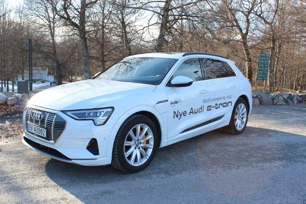VELLYKKET NYKOMMER: Nye Audi e-tron frister med høy premiumfølelse og over 400 kilometer rekkevidde på strøm.