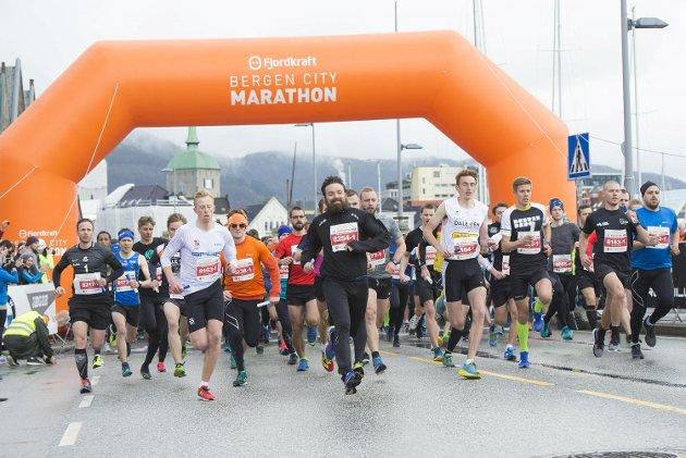 Bergen City Marathon lørdag.