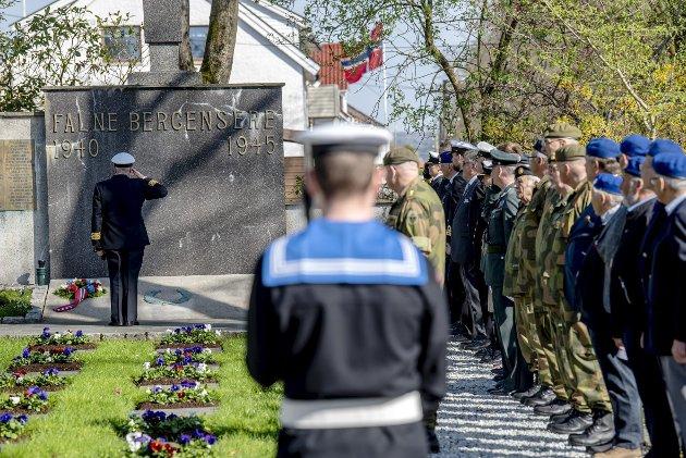 Frigjøringsdagen: – Det er 75 år siden Norges frigjøring etter 2. verdenskrig. Igjen er vår beredskap satt på prøve. Foto: Eirik Hagesæter
