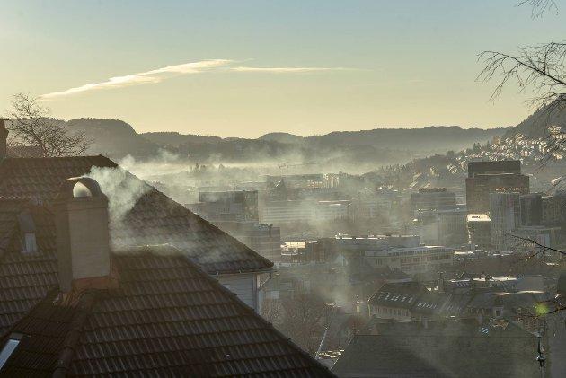 Etter nyttår er det forbudt å bruke ikke-rentbrennende ildsteder i Bergen. FOTO: EIRIK HAGESÆTER
