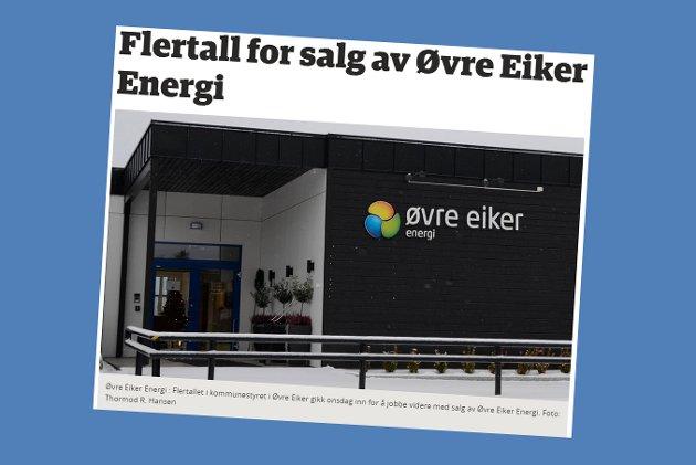 Skjermdump fra eikerbladet.no 14. desember 2017.