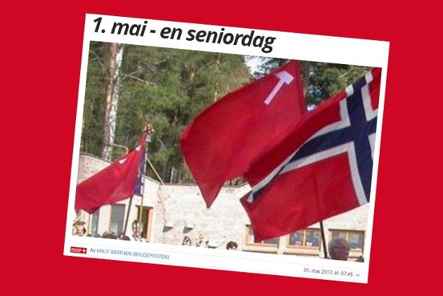 UENING: Jon Mamen kommenterer Bygdepostens leder. Illustrasjon: Skjermdump fra bygdeposten.no 1. mau 2017.
