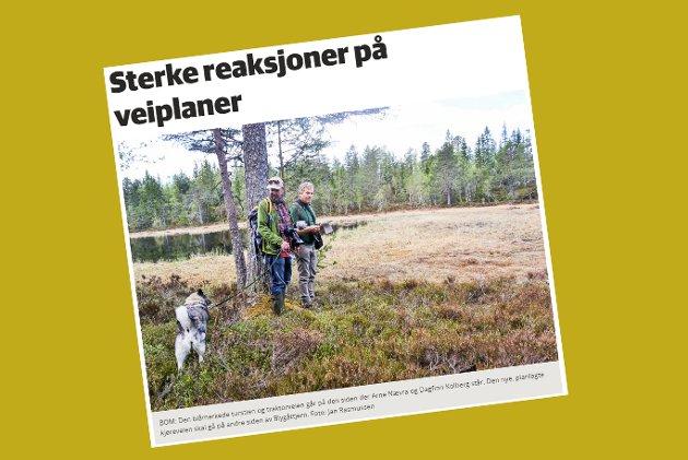 Skjermdump fra bygdeposten.no 16. juni 2017.