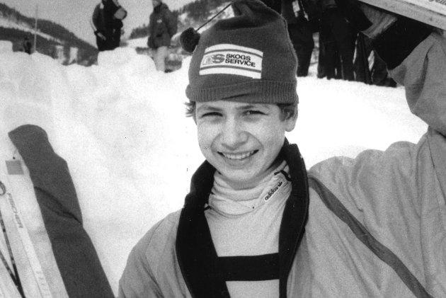 1989: Ole Einar Bjørndalen, Simostranda var 14 år gammel da dette bildet ble tatt. Foto: Drammens Tidende