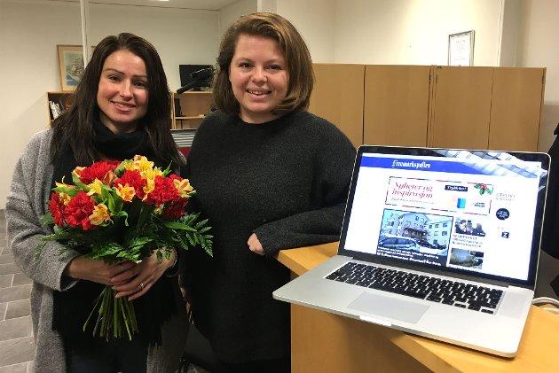 SUKSESS: Randi Iren Olsen og Stine Serigstad kunne feire åpningen av finnmarksposten.no 1. desember i fjor.
