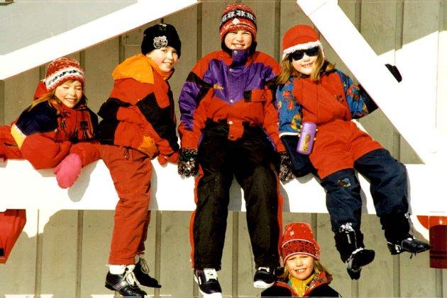 Lek i snøen Storbukt skole 90-tallet