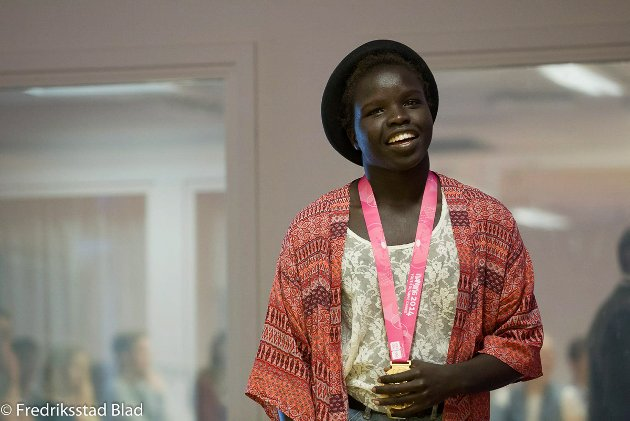 Grace Bullen vant gull i bryting i OL for ungdom. Foto: Christine Heim, 31.08.2014