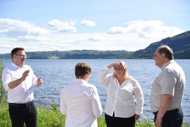 Innlandet Arbeiderpartis fire øverste kandidater: Even Aleksander Hagen, Kjerstin Lundgård, Anne-Marte Kolbjørnshus og Per-Gunnar Sveen.