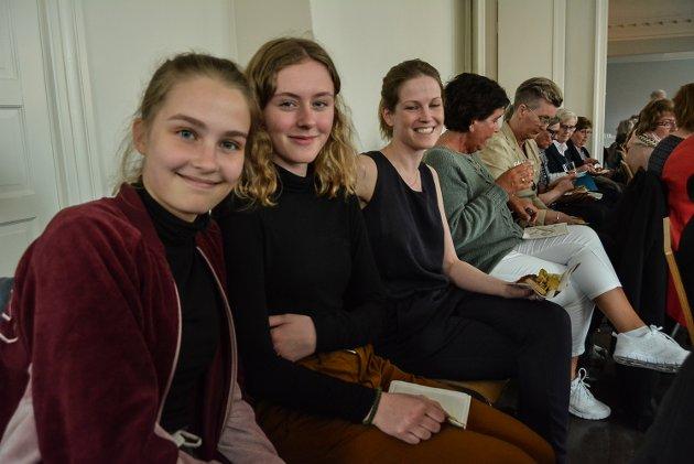 F.v. Klara Andradottir, Embla Thorgeirsdottir og Alice Snorradottir