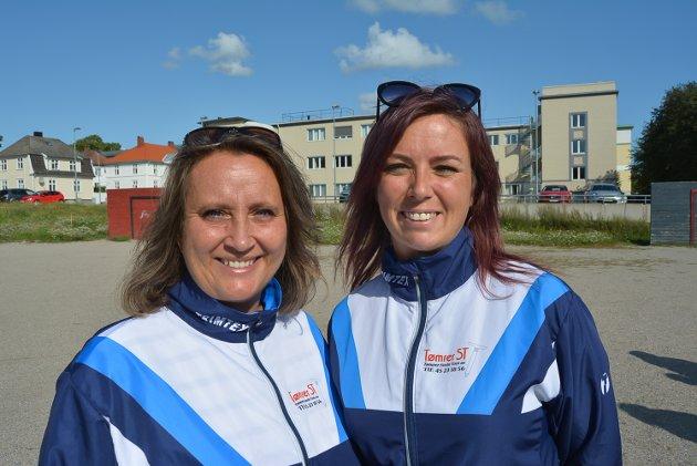 Grethe Dahl og Christine Klingstrøm i Fredrikshalds Turnforening.