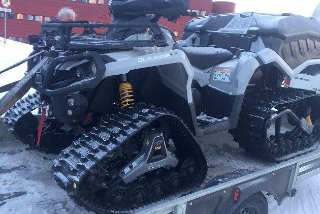 OMBYGD: ATV ombygd til beltedrift.