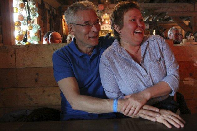 Første gang: Magne Mortensen (61) fra Hammerfest og Lise Thomassen (50) fra Hammerfest hadde hørt om festivalen fra kollegaer.
