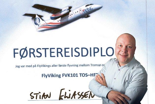292 DAGER I LUFTEN: FlyVikings aller første ruteflyging gikk fra Tromsø til Hammerfest 27. mars i 2017. 12. januar gjennomfører selskapet sin siste ruteflyging.