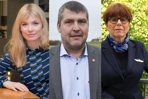 OPPGITT: Marit Hansen (til høyre) har jobbet i SAS i 32 år. Nå ser hun på regjeringas forslag om å kutte pendlerfradrag med stor bekymring. Hun opplever lite forståelse fra stortingsrepresentantene Marianne Haukland og Bengt Rune Strifeldt.