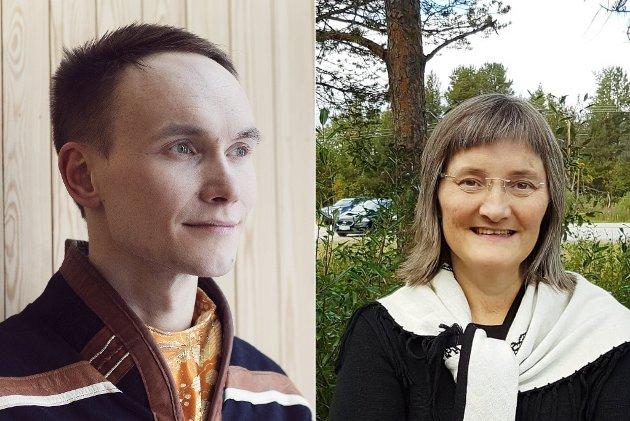 FALSKE FIENDEBILDER: Runar Myrnes Balto mener Toril Bakken Kåven pisker opp stemningen.