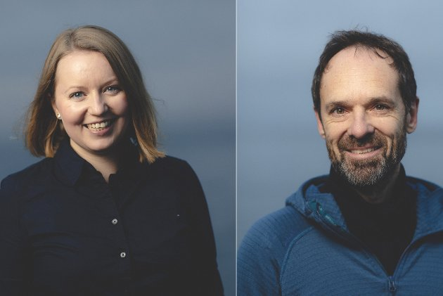 Therese Rist og Jan-Gunnar Winther ved senter for hav og Arktis.