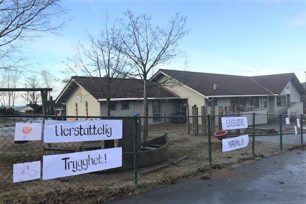 FORSLAG OM NEDLEGGING: Lyefjell barnehage er populær i bygda, men no har administrasjonen i Time kommune hatt ein plan på høyring der det er forslag om å leggje ned barnehagen.