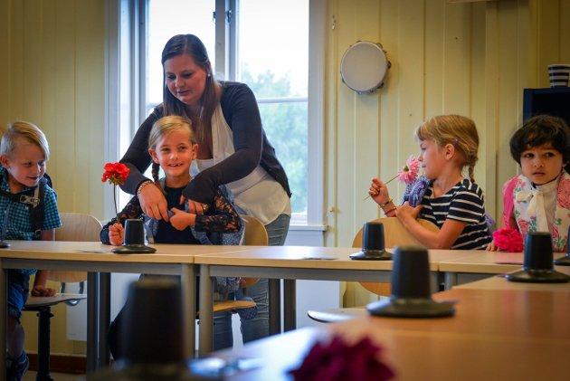 Skolestart Berg skole. Foto: Eigil Kittang Ramstad