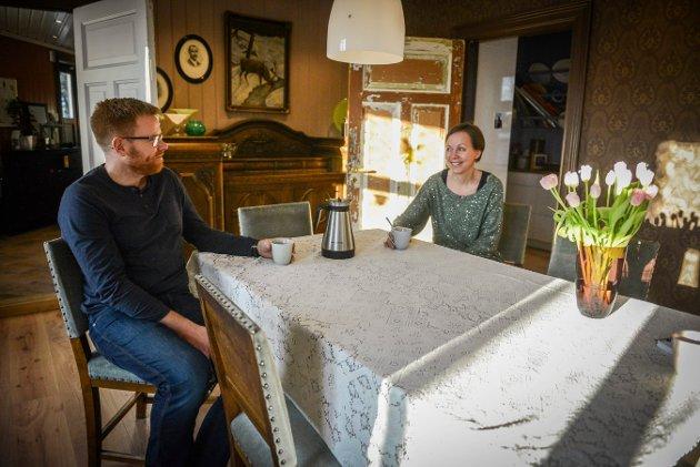 Åse Marit og Tor Flesseberg har jobbet utallige timer for å få huset sitt slik det fremstår i dag.