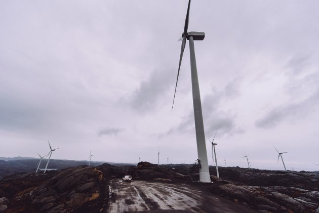 Fra vindmøllene i Egersund