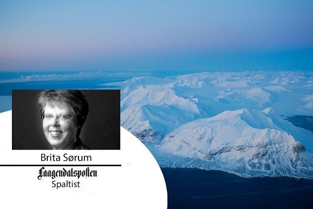 """Brita Sørum skriver om tv-programmet på NRK """"Svalbard minutt for minutt"""""""