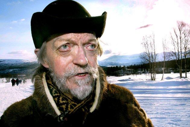 """""""Kautokeino 1852"""" - fra innspillingen i Filmcampen i gamle Holmen leir i Målselv. Nils Utsi spilte rollen som Clemet."""