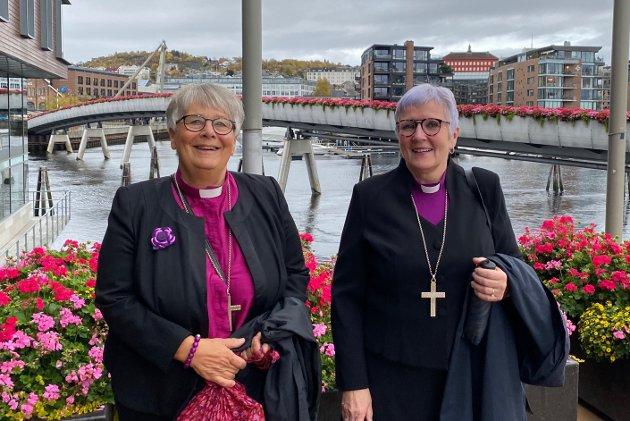BETYDNING: - Nå i 2021 er halvparten av biskopene kvinner. Det sier noe om betydningen av at det åpnes opp og at noen er villige til å ta oppgaver, slik Ingrid Bjerkås og Rosemarie Køhn gjorde, skriver biskopene Solveig Fiske og Ann-Helen Fjeldstad.